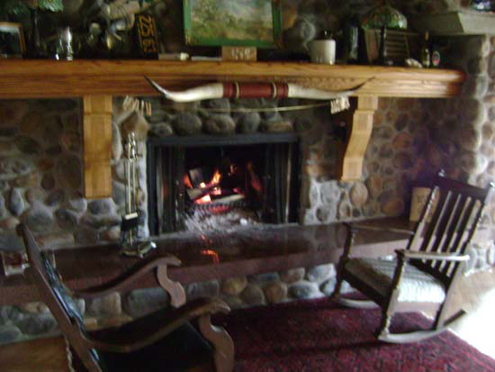 Fireplace in Wisconsin winter vacations