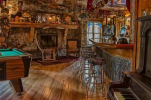 Adeline's House of Cool game room bar piano