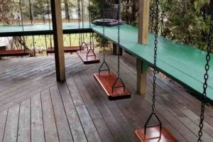 Adeline's House of Cool in Wisconsin ground level porch swings